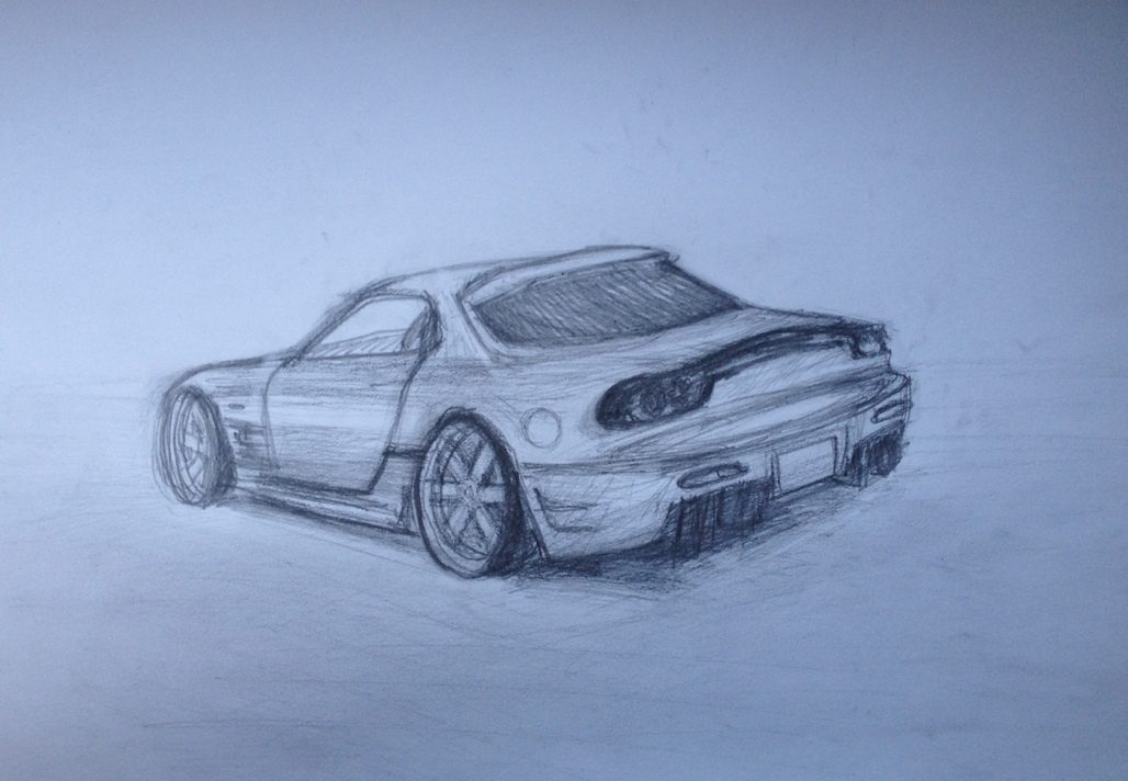 It's just a graphic of Exhilarating Mazda Rx7 Drawing