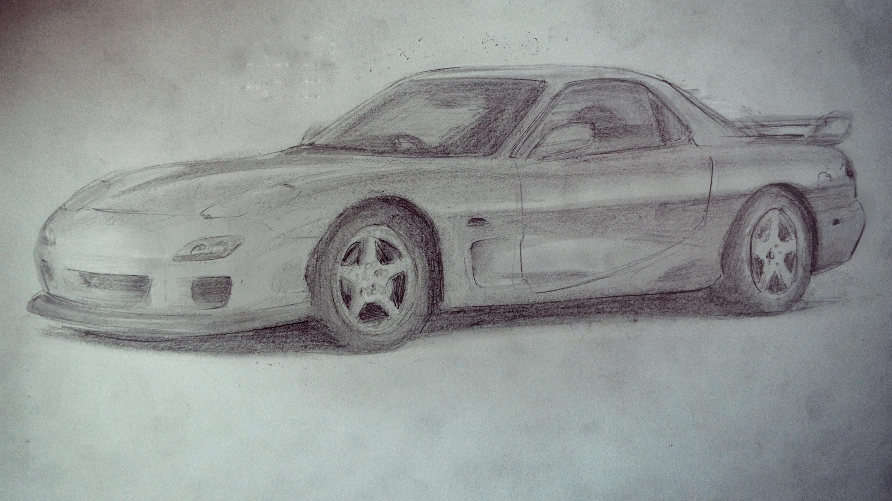 Mazda Rx7 Drawing At Free For Personal Use 93 Rx 7 Wiring Harness 3450x1940 Ive Drawn A