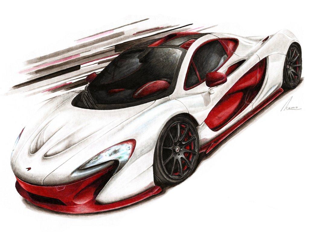 Mclaren Car Coloring Pages : Mclaren drawing at getdrawings.com free for personal use mclaren