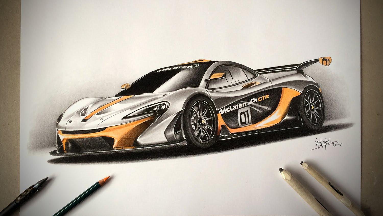 1500x844 Mclaren P1 Gtr Speed Drawing By Drawing Master
