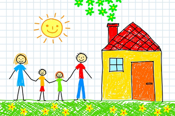 Me and my family drawing at free for for Draw my house