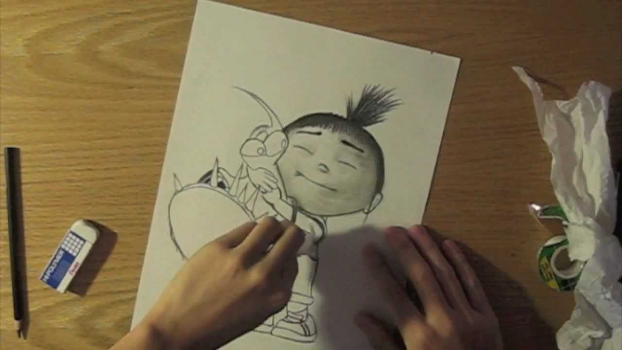 1280x720 Speed Drawing Of Despicable Me