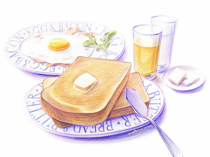 700x525 Colored Pencil Drawings Of Japanese Food (Vol.01)