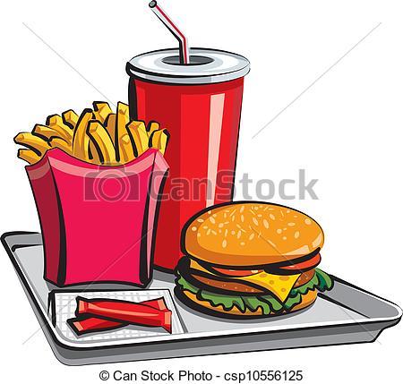 450x429 Fast Food Meal Vector Illustration