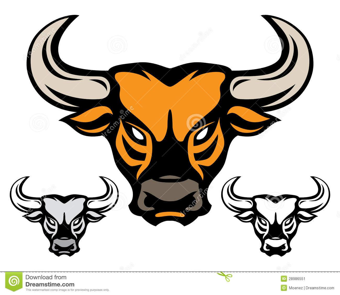 1300x1130 Mean Bull Head Drawing