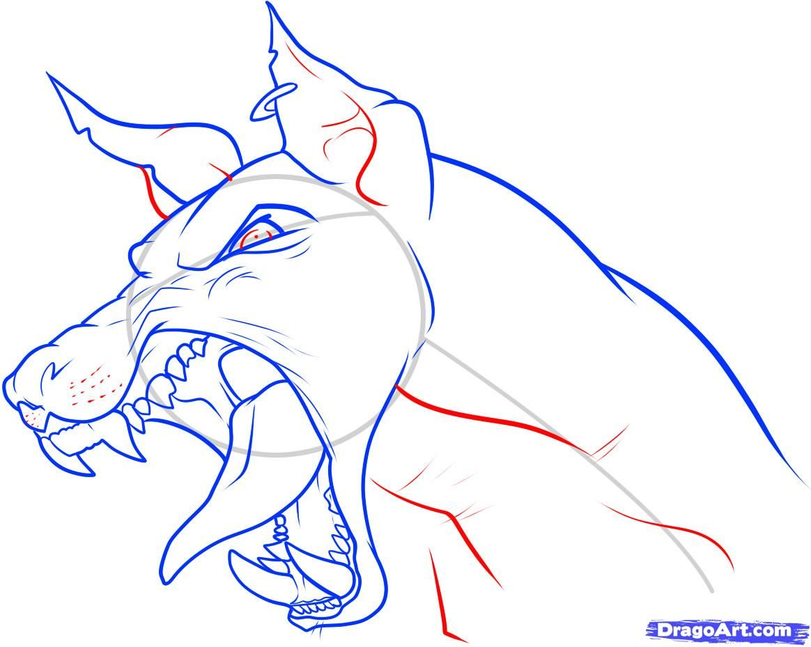 1164x929 How To Draw Puppy Drawing Growling Dog Drawing How To Draw A Dog