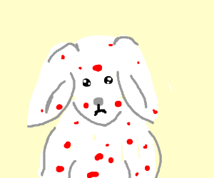300x250 Bunny With Measles
