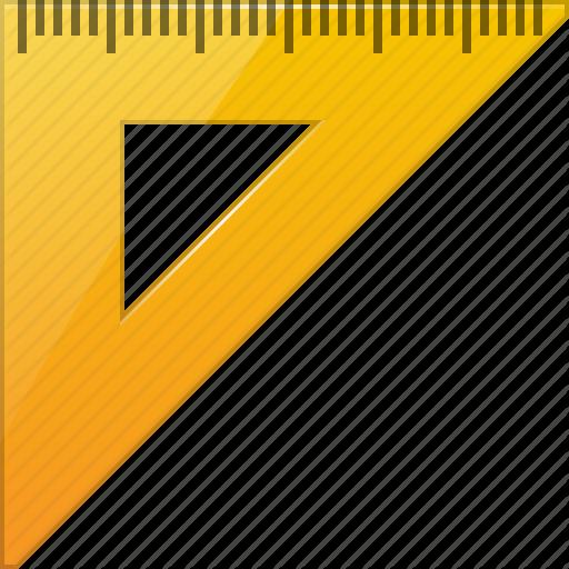 512x512 Drawing, Geometric, Measure, Measuring, Rulers, Triangle Ruler