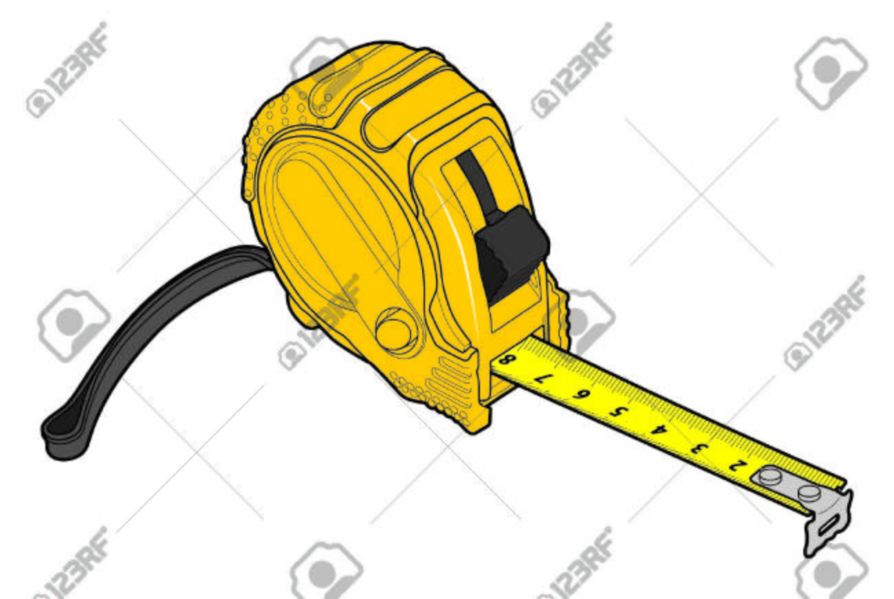 1300x871 Drawing Yellow Roulette Measure Building Royalty Free Cliparts