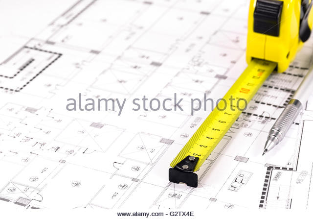 640x447 Tape Drawing Measure Planning Compass Technical Drawing Stock