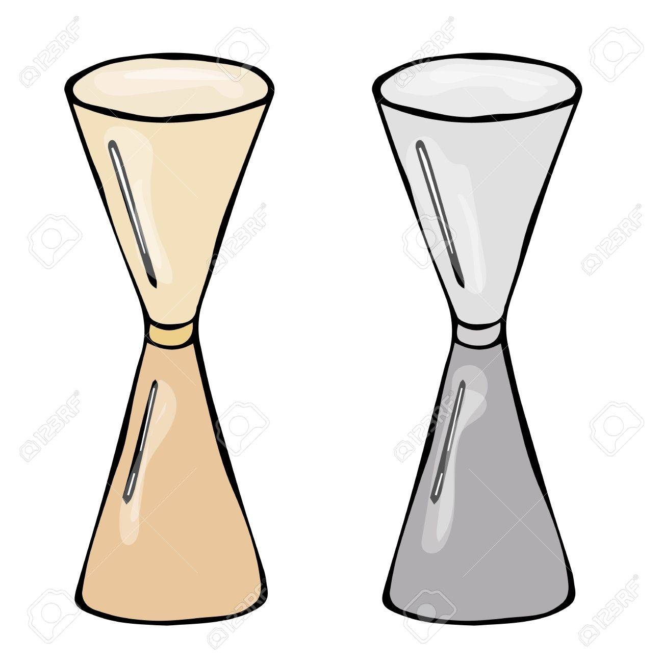 1300x1300 Jigger Cocktail Measuring Cup Sketch. Hand Drawn Vector