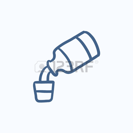 450x450 Medicine And Measuring Cup Vector Sketch Icon Isolated
