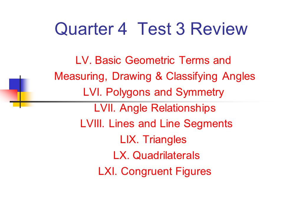 960x720 Quarter 4 Test 3 Review Lv. Basic Geometric Terms And Measuring