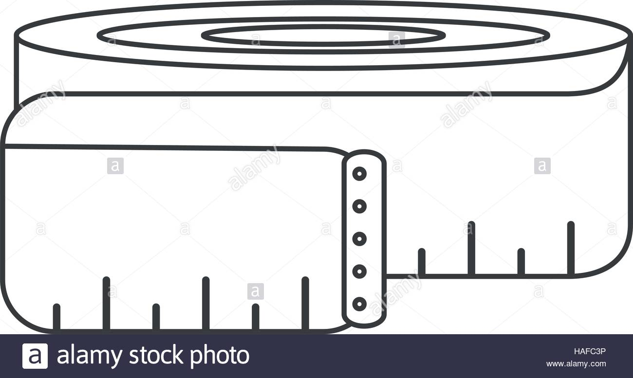 1300x777 Outline Measuring Tape Lose Weight Fitness Gym Stock Vector Art