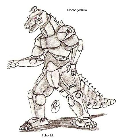 Mechagodzilla Drawing at GetDrawings