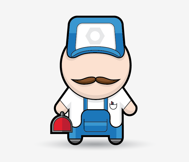 778x666 A Simple Mechanic Character In Illustrator
