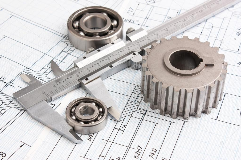 1023x682 Mechanical Drawing And Pinion Stock Photo Observer