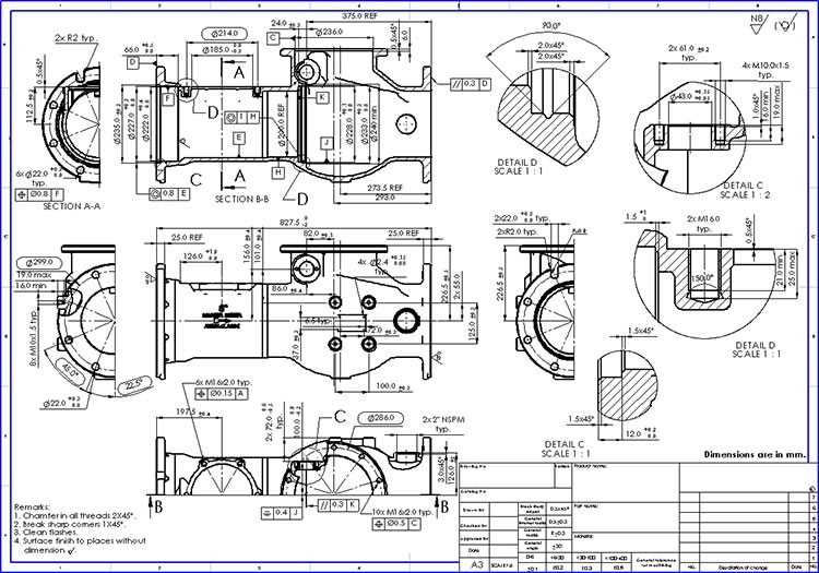 750x525 Mechanical Cad Drafting Services, Autocad Amp Solidworks Drafting