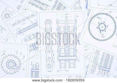 450x319 Technical Engineering Drawing, Image Amp Photo Bigstock