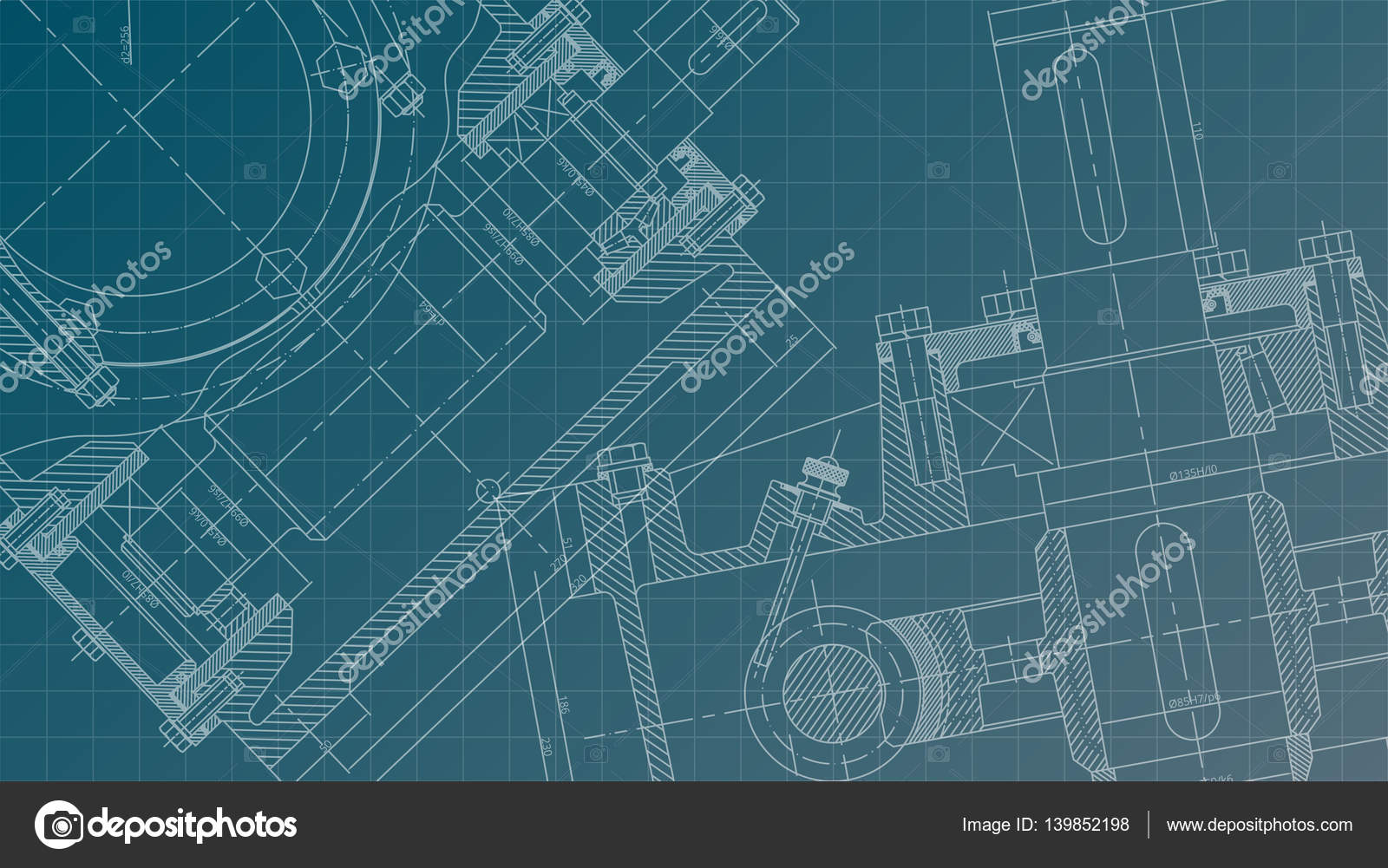 1600x1001 Mechanical Engineering Drawing. Engineering Drawing Background
