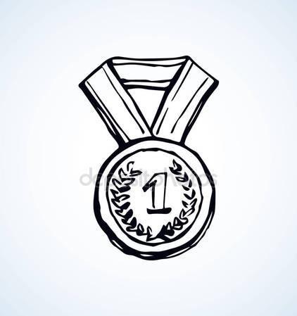 422x449 Medal. Vector Drawing Stock Vector Marinka