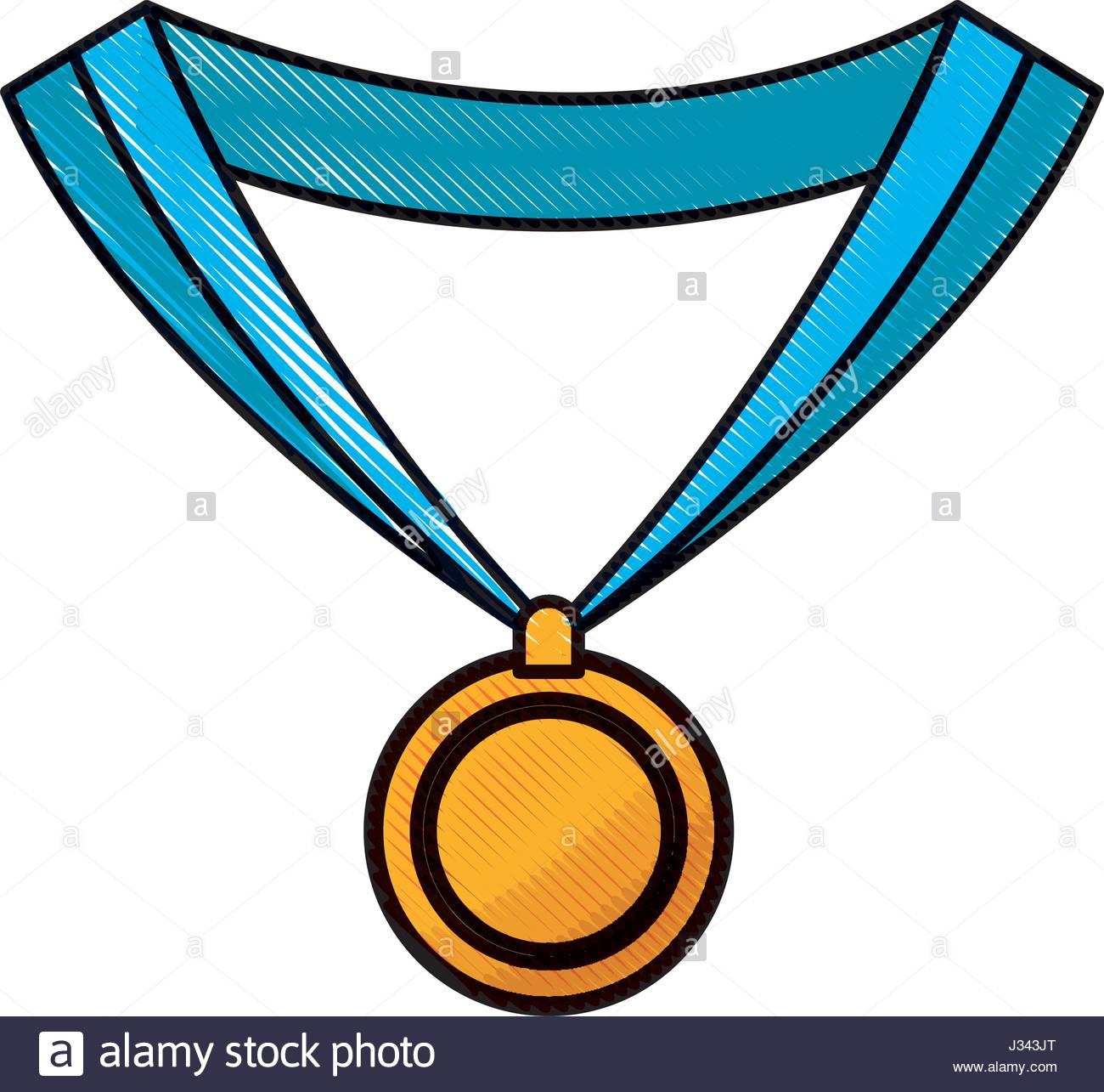 1300x1285 Drawing Medal Award Win Sport Image Stock Vector Art