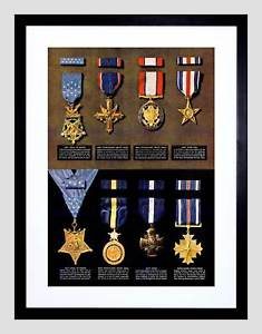 235x300 War Drawing Wwii Medal Honor Cross Army Navy Air Force Framed