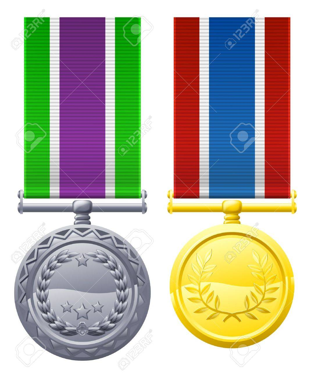 1070x1300 A Drawing Of Two Military Style Chest Medals Or Decorations