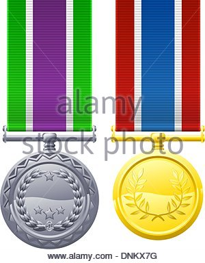 300x384 A Drawing Of Two Military Style Chest Medals Or Decorations Stock