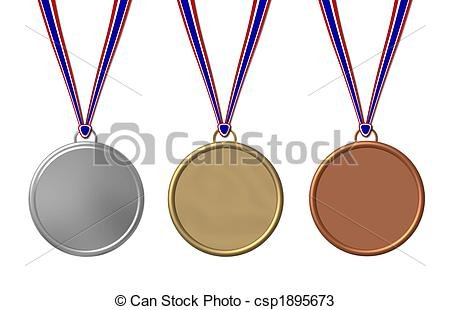450x310 Set Of Sports Medals Isolated Drawings