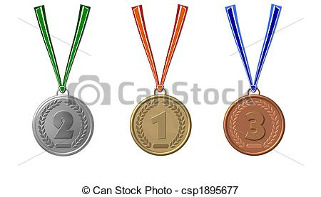 450x277 Set Of Sports Medals Isolated Stock Illustrations