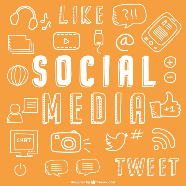 626x626 Social Media Drawing Icons Vector Free Download
