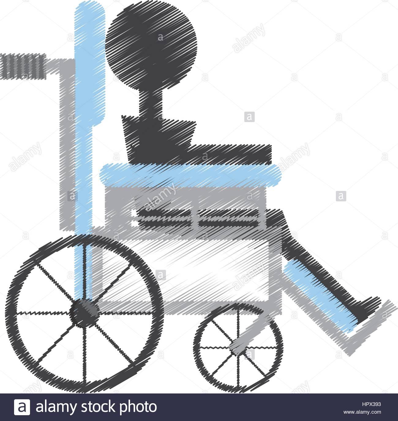 1300x1376 Drawing Patient Wheelchair Medical Equipment Stock Vector Art