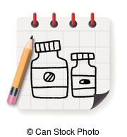 180x195 Medicine Bottle Doodle Drawing Vector Clip Art