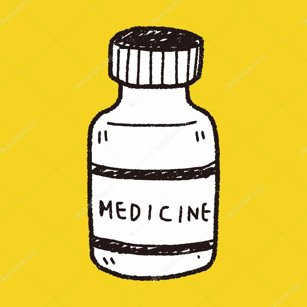 1024x1024 Medicine Bottle Doodle Drawing Stock Vector Hchjjl