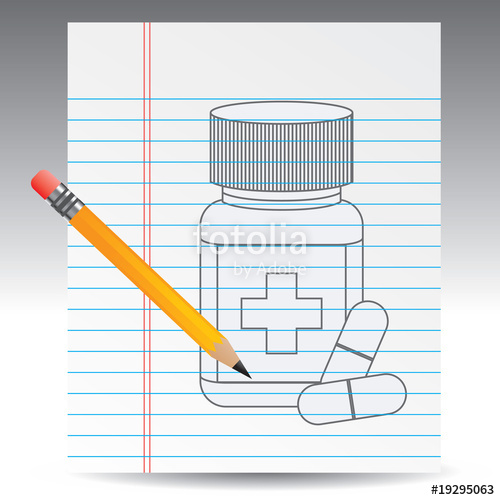500x500 Medicine Bottle Drawing With Pencil Stock Image And Royalty Free