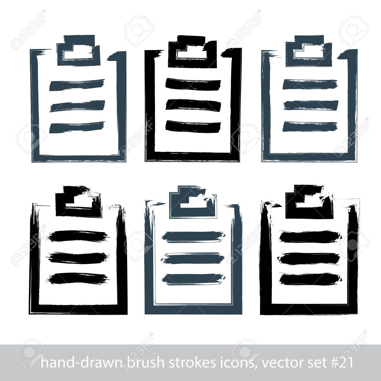 1300x1300 Set Of Hand Drawn Simple Prescription Pads, Brush Drawing Medicine