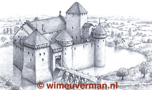 Medieval Castle Drawing At Getdrawings Com Free For