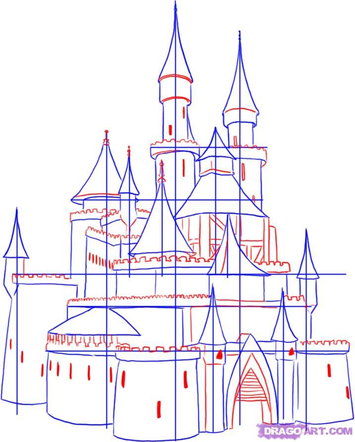 717x892 Step 3 How To Draw A Castle Castles Castles, Draw