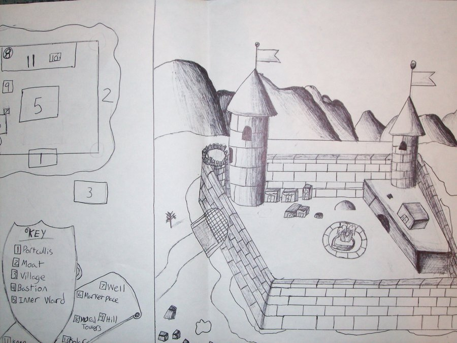 Medieval Coloring Pages For Adults : Medieval castles drawing at getdrawings.com free for personal use