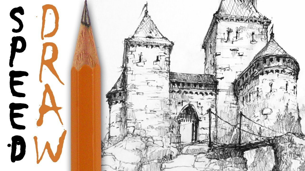1280x720 How To Draw A Castle