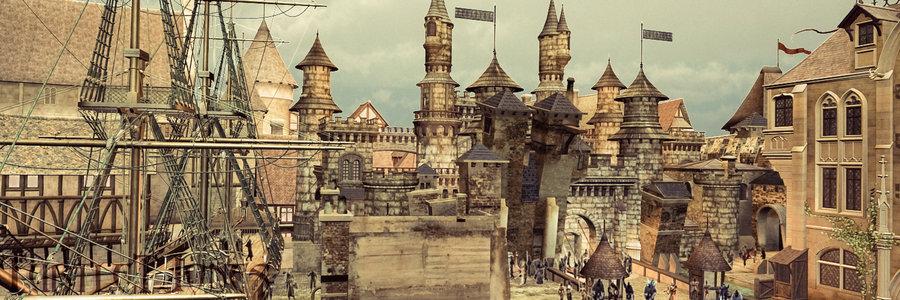 Fantasy Medieval City Art