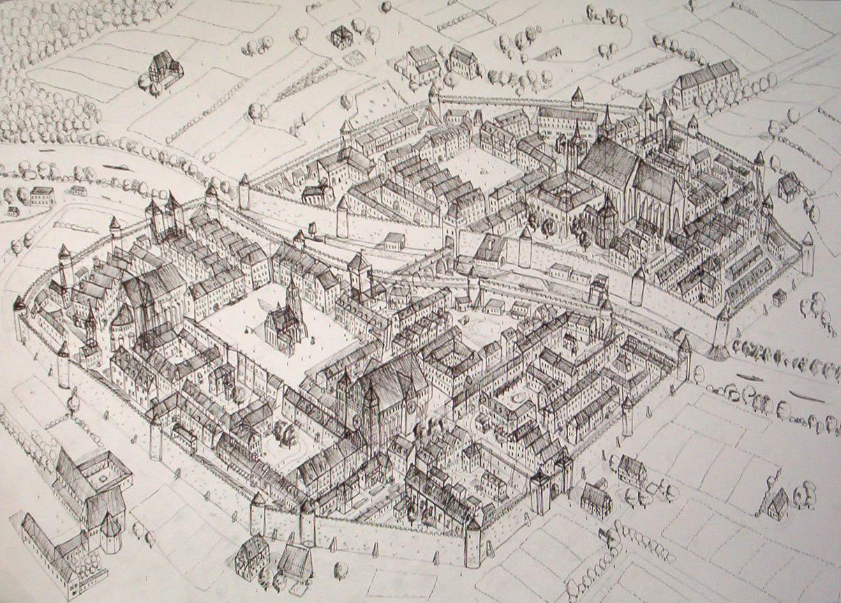 1205x864 Medieval City By Kozzie001 On DeviantArt