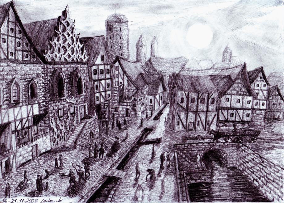 Medieval Coloring Pages For Adults : Medieval city drawing at getdrawings.com free for personal use