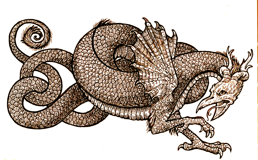 Medieval Coloring Pages For Adults : Medieval dragon drawing at getdrawings.com free for personal use