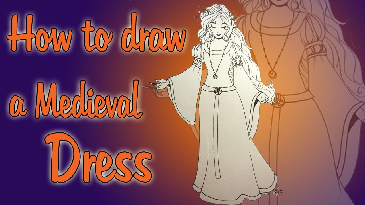 1280x720 How To Draw A Medieval Dress
