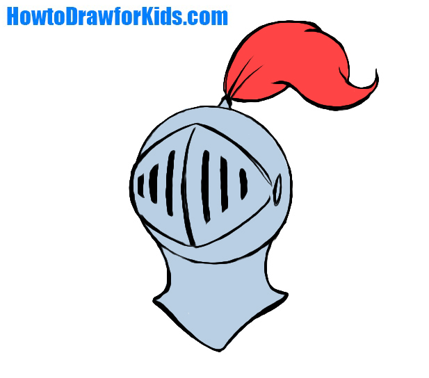 617x544 How To Draw A Knight Helmet For Kids Howtodrawforkids
