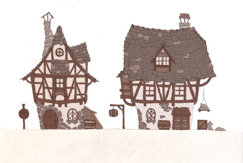Medieval house drawing at free for for 2d building drawing