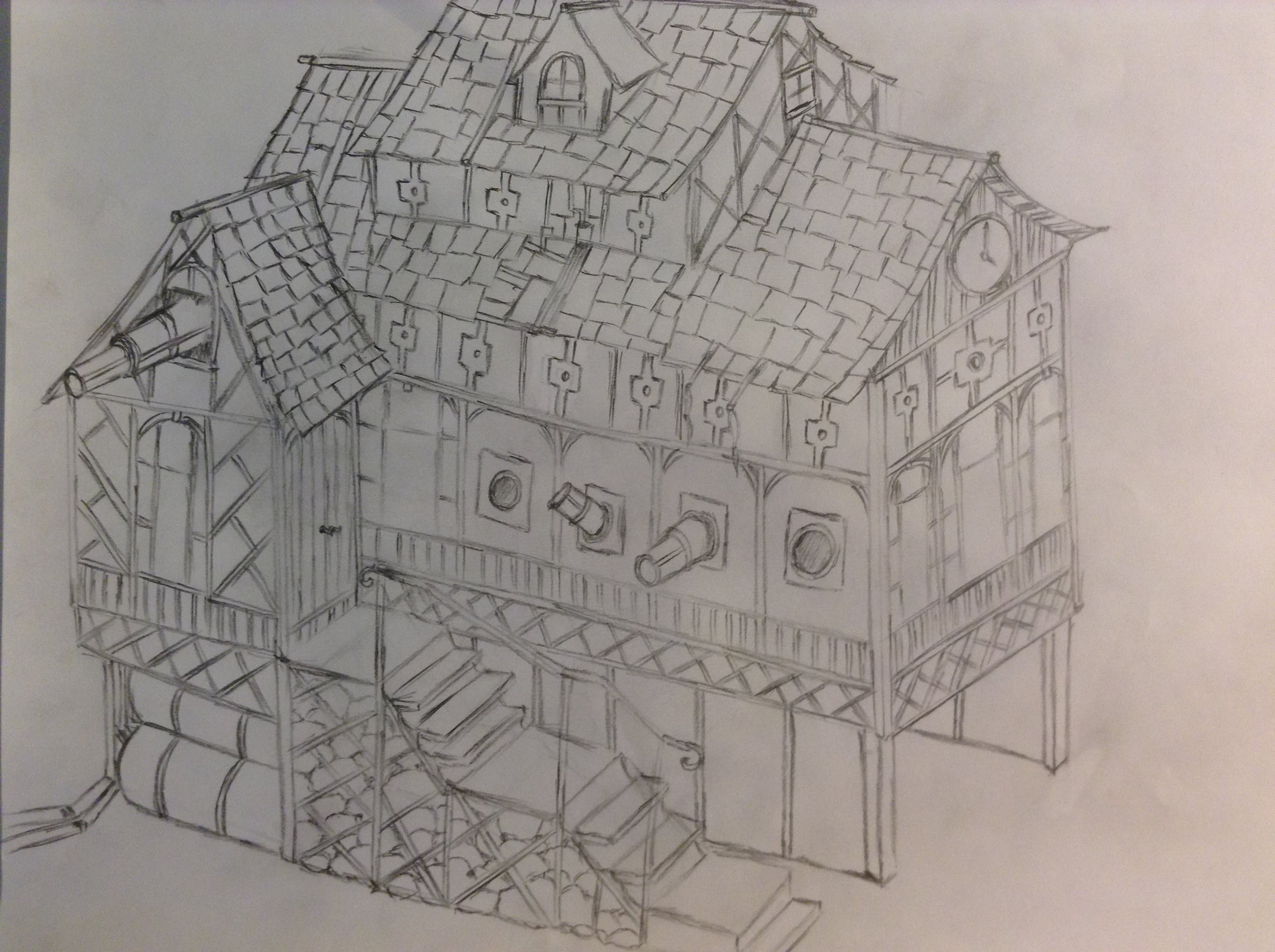 Medieval Coloring Pages For Adults : Medieval house drawing at getdrawings.com free for personal use