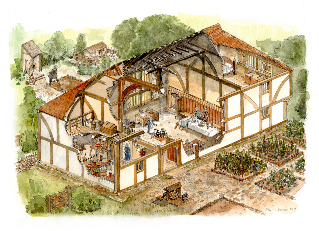 Medieval House Drawing At Getdrawings Com Free For